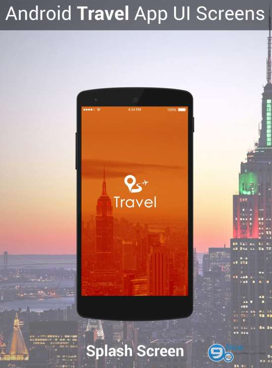 android travel app ui screens psd