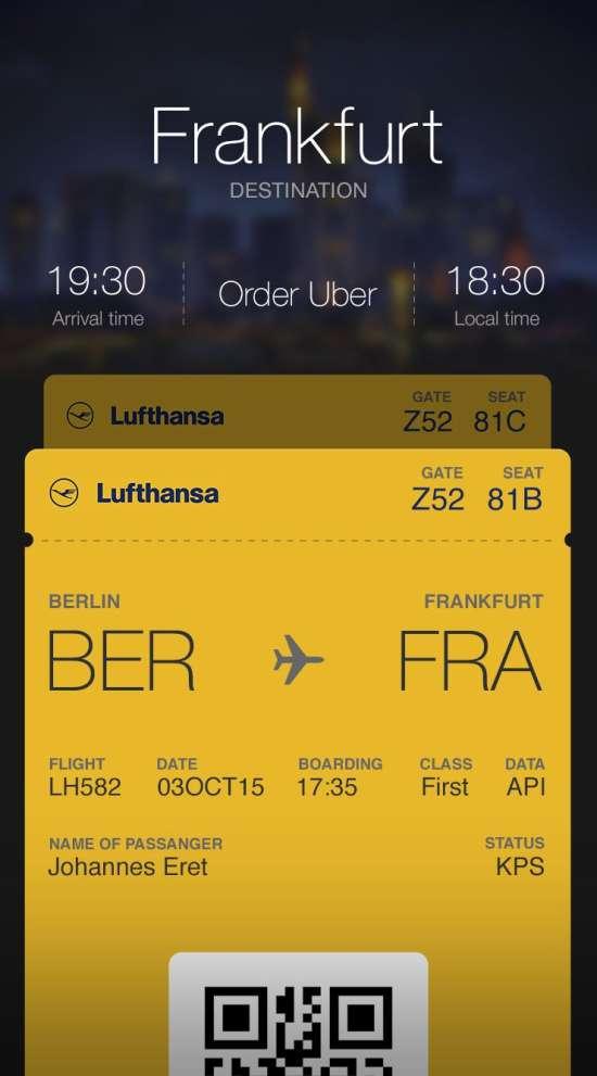 boarding pass app ui psd