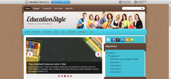 free educationstyle blogger template