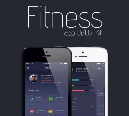 fitness app uiux psd