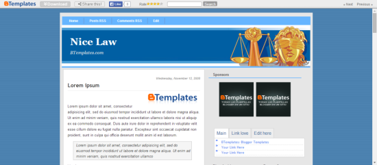nice law education blogger template