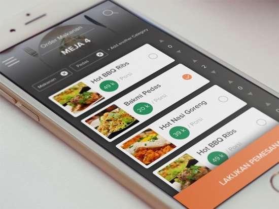 pesan makan app ui psd
