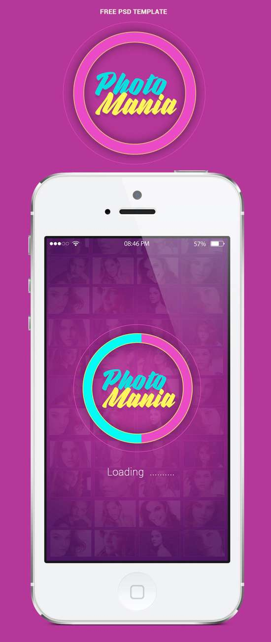 photomania mobile app ui template photomania
