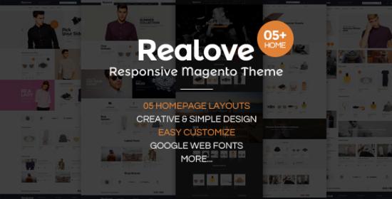 realove responsive magento fashion theme