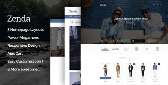zenda responsive magento fashion theme