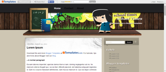 free college times education blogger template