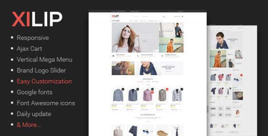 xilip responsive magento fashion themes