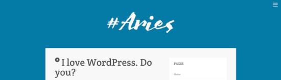 aries wordpress theme