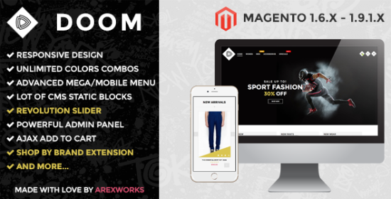 arw doom modern fashion responsive magento theme