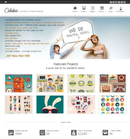 celestino wordpress bootstrap theme
