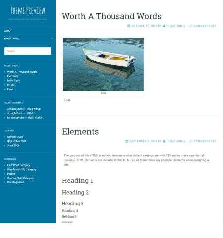 flat sky wordpress bootstrap theme