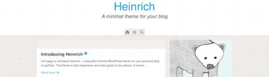 heinrich wordpress theme