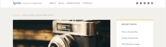 ignite blogger wordpress theme