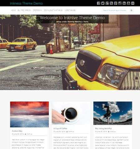 inkness wordpress theme that is bootstrap width=