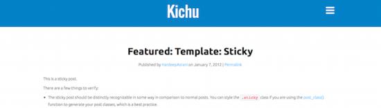 kichu wordpress theme