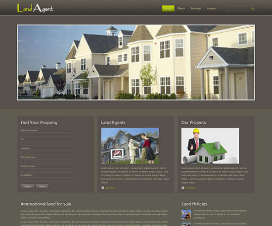 Free download real estate website templates image collections 45 free premium real estate website templates xdesigns free land agent template pronofoot35fo image collections pronofoot35fo Image collections