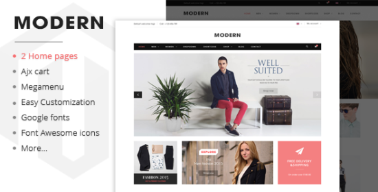 modern responsive magento fashion theme