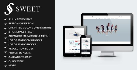 arw sweet minimalist responsive magento theme