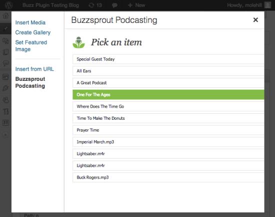 buzzsprout podcasting wordpress plugin
