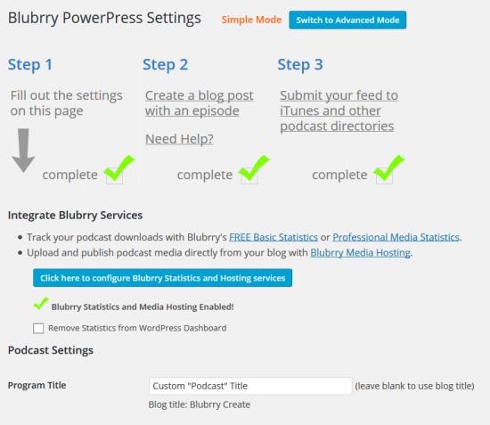 blubrry powerpress podcasting plugin