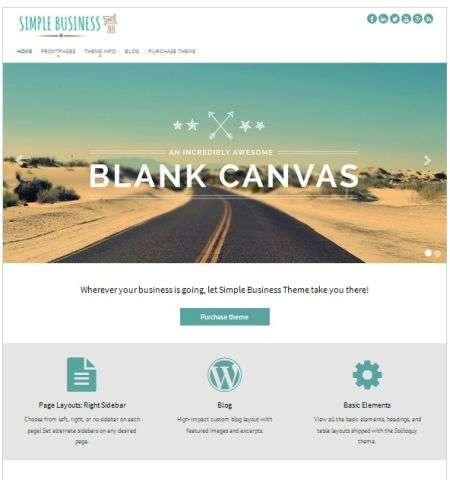 simple business wordpress bootstrap theme