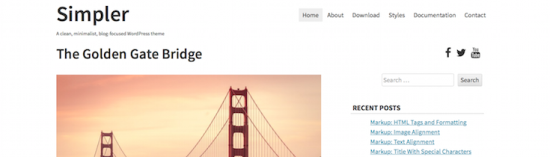 simpler blogger wordpress theme
