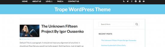 trope blogger wordpress theme