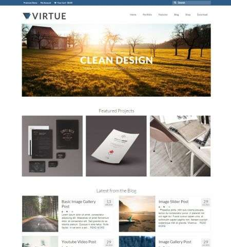 virtue wordpress bootstrap theme