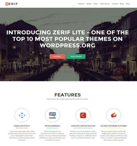 zerif lite wordpress bootstrap theme
