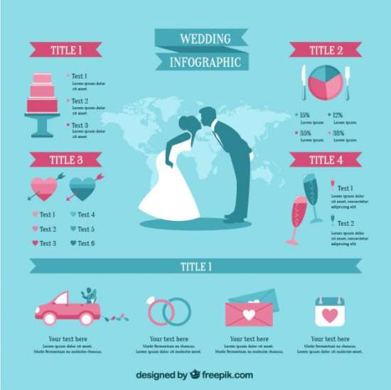 free blue wedding infographic