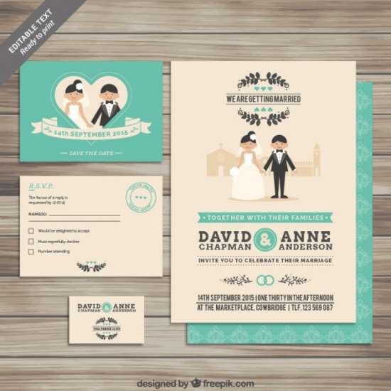free collection of wedding invitations template