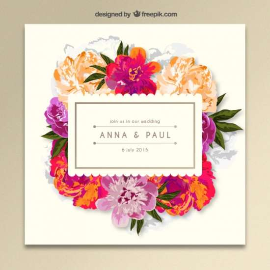 Flower Wedding Invitations 035 - Flower Wedding Invitations