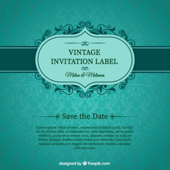 free green wedding invitation card