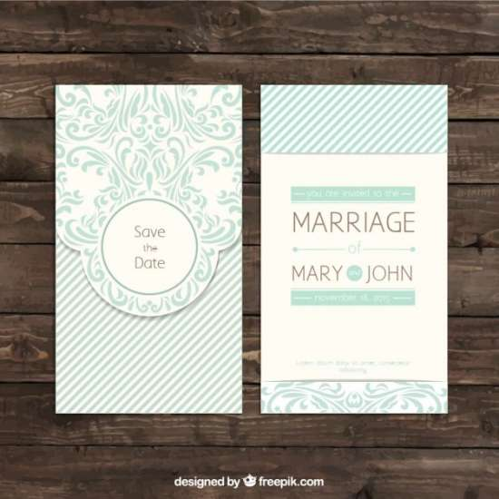 ornamental retro wedding invitation