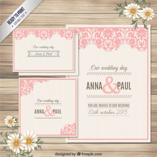 free decorative wedding invitation card