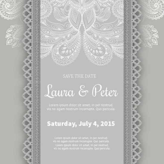 free decorative wedding invitation template