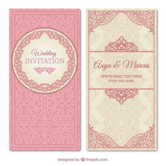 ornamental wedding invitation template