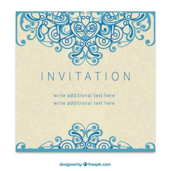 retro invitation in decorative style