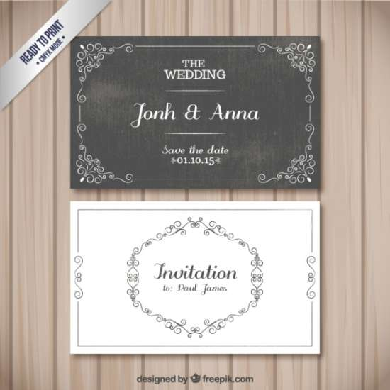 free retro wedding cards