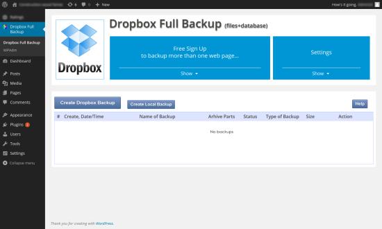 dropbox backup restore