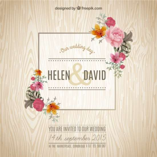 spring wedding invitation template