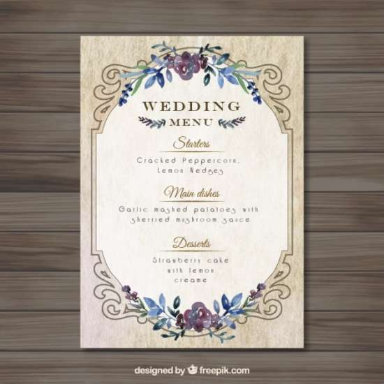 Free vintage wedding invitations templates