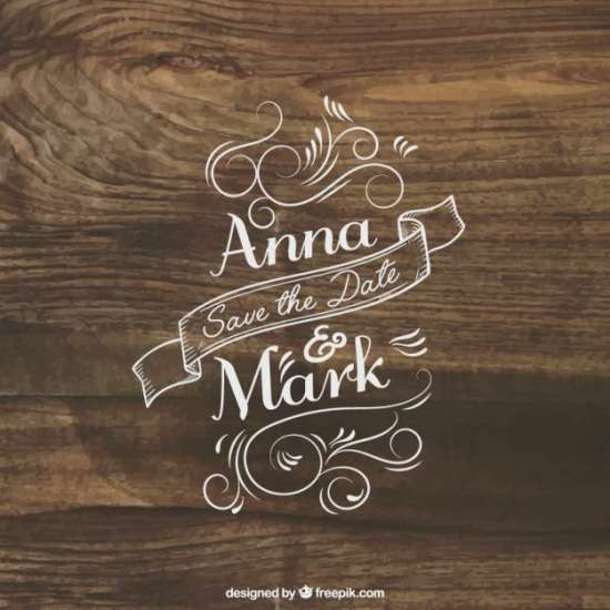 free wedding invitation lettering on lumber
