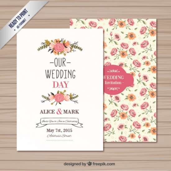 40 free wedding invitation templates xdesigns free wedding invitation template toneelgroepblik Images