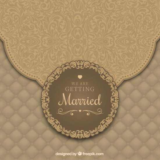 free wedding invitation with ornaments