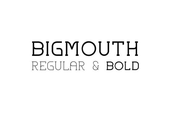 bigmouth super sleek font