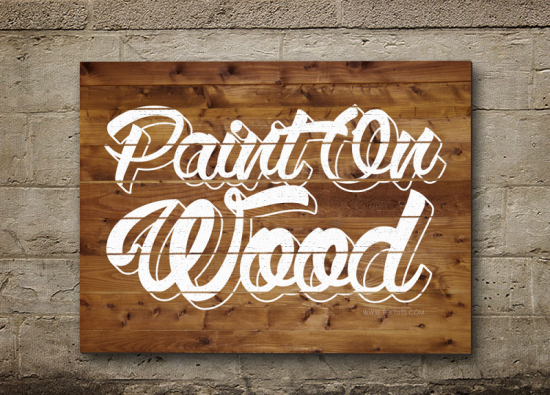 painted on lumber text impact free photoshop text effect tutorial