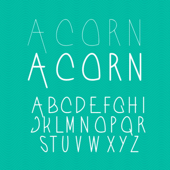 acorn typeface free sleek font for minimalist design
