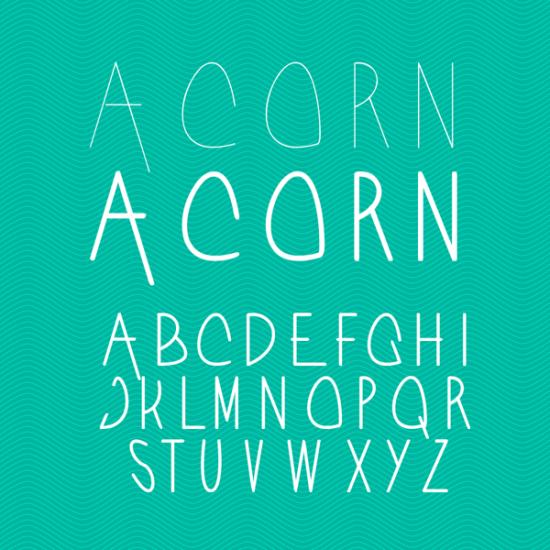 acorn typeface free sleek font for minimalist design