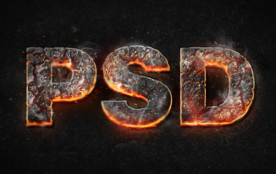 magma hot text free photoshop text effect tutorial